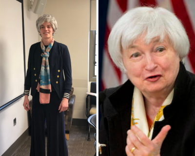 first year strikes up unlikely friendship with janet yellen economics department janet yellen economics department